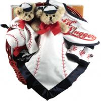 little slugger baby boy gift basket