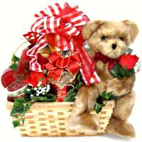 Romantic Bear Hug Gift Basket
