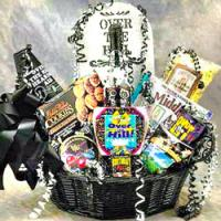 Over The Hill Tombstone Birthday Gift Basket