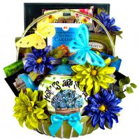 A teapot gift basket for mother