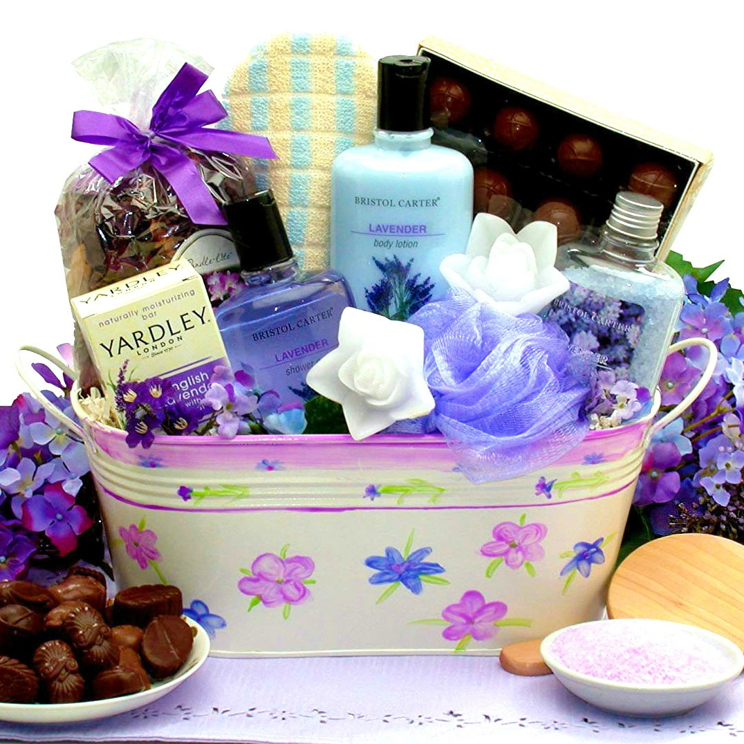 Tranquil Relaxation Gift Basket For Her Loading Zoom